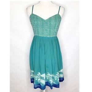 Floreat | Anthropologie Silk Waves Dress